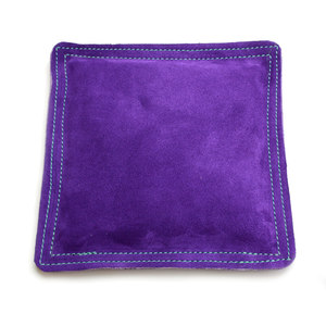 "Jewelry Making Tools Sandbag, Bench Block Pad - 9"" Square Purple Leather/Suede"