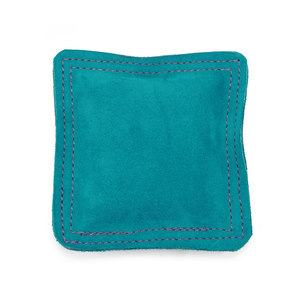 "Metal Stamping Tools Sandbag, Bench Block Pad - 5.5"" Square Teal Leather/Suede"