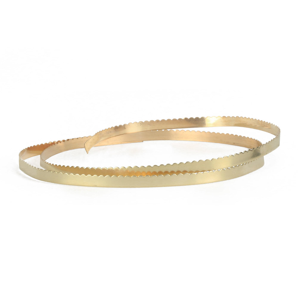 "Wire & Sheet Metal 12K Gold Filled 4.8mm, 30g Scalloped Bezel Wire, 24"" Length"