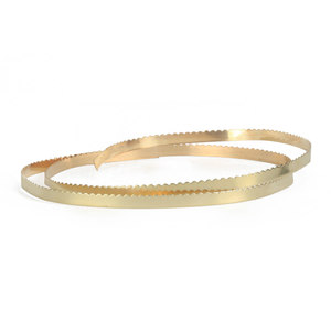 "Wire & Sheet Metal 12K Gold Filled 4.8mm, 30g Scalloped Bezel Wire, 24"" Length"