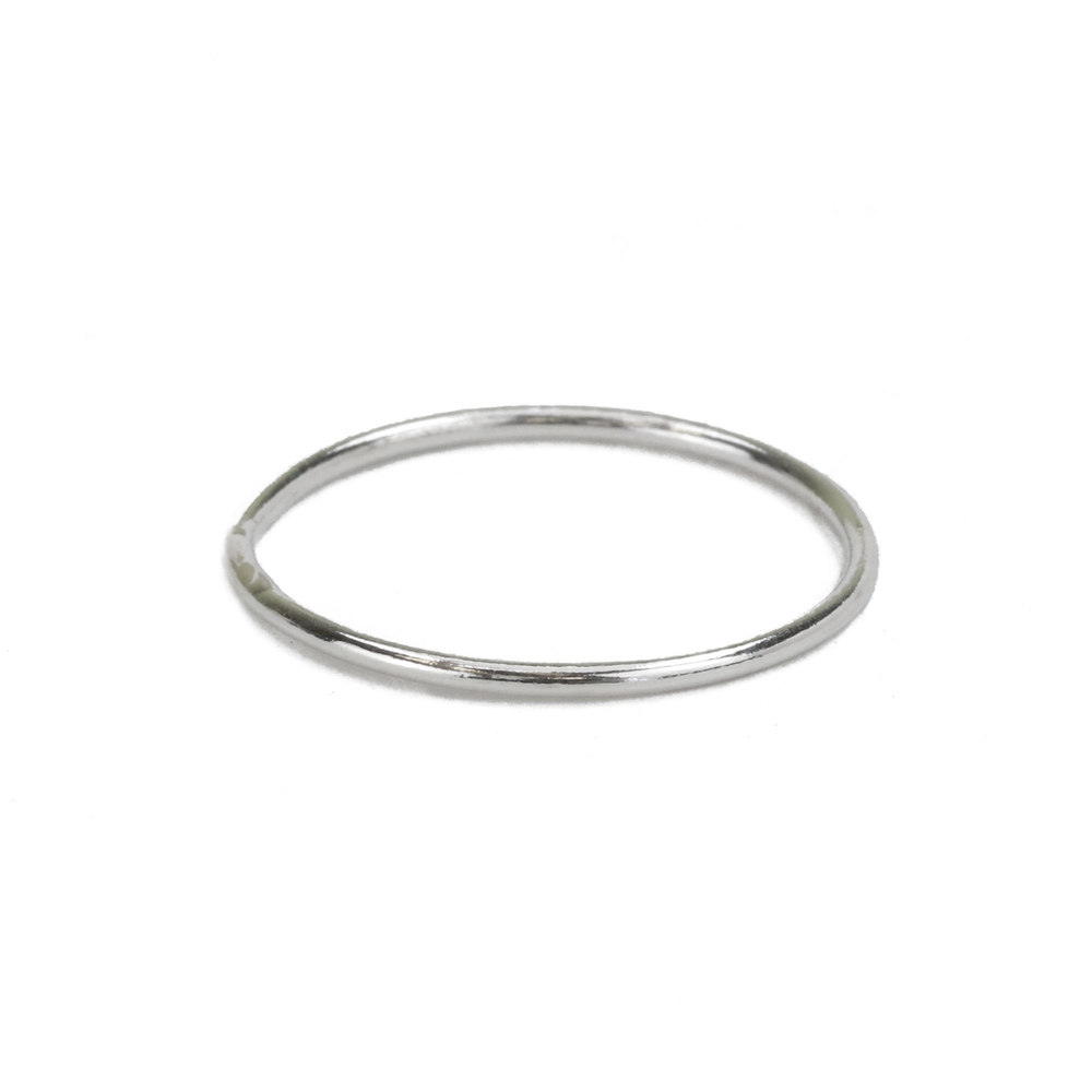 Metal Stamping Blanks Sterling Silver Stacking Ring, Size 8