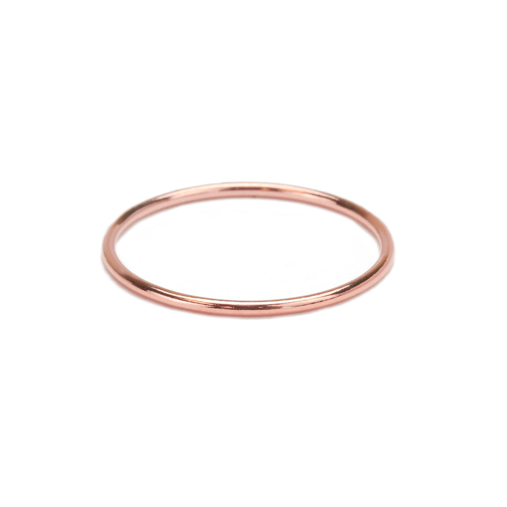 Metal Stamping Blanks Rose Gold Filled Stacking Ring, SIZE 7