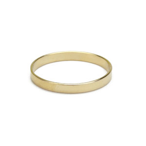 Metal Stamping Blanks Gold Filled Ring, 2mm Wide, SIZE 7