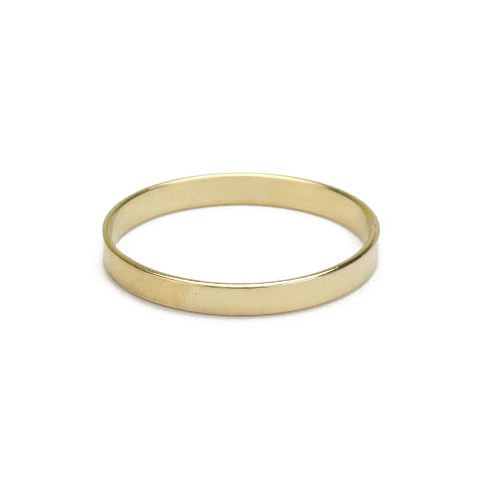 Metal Stamping Blanks Gold Filled Ring, 2mm Wide, SIZE 8