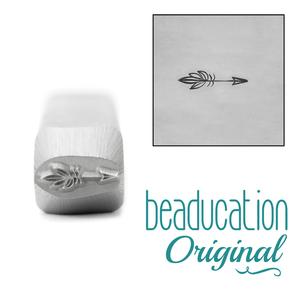 Metal Stamping Tools Boho Arrow Metal Design Stamp, 8mm - Beaducation Original