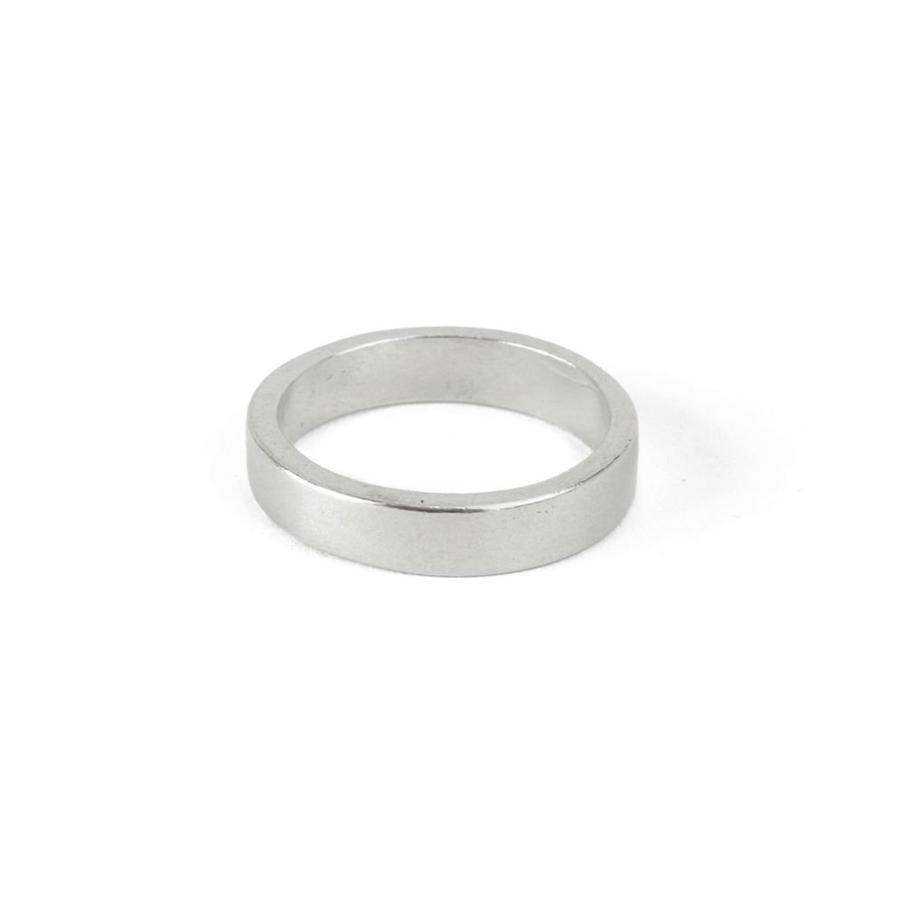 Pewter Ring Stamping Blank, 4mm, SIZE 7