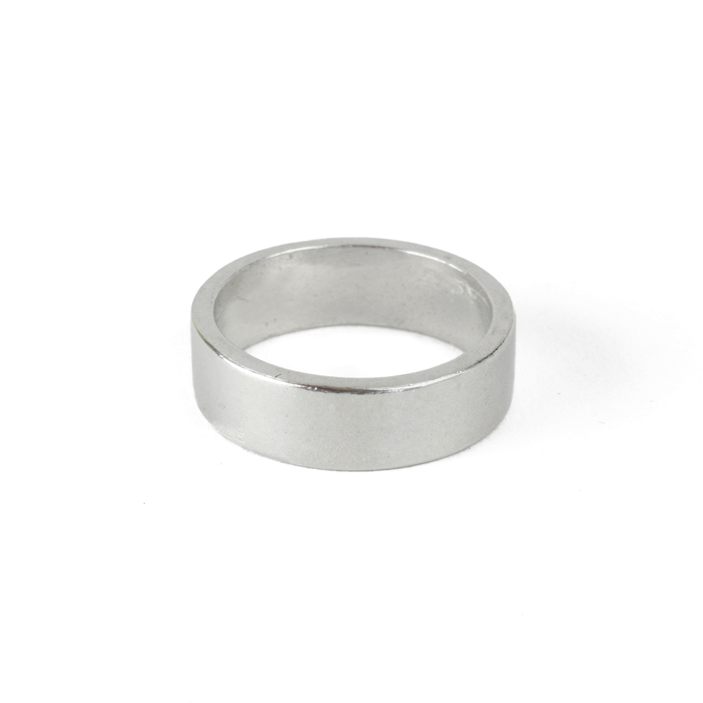Metal Stamping Blanks Pewter Ring Stamping Blank, 6mm, SIZE 6