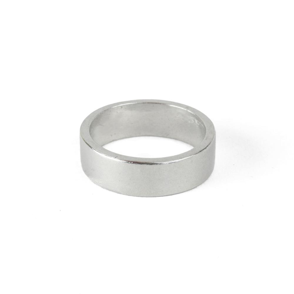 Metal Stamping Blanks Pewter Ring Stamping Blank, 6mm, SIZE 8