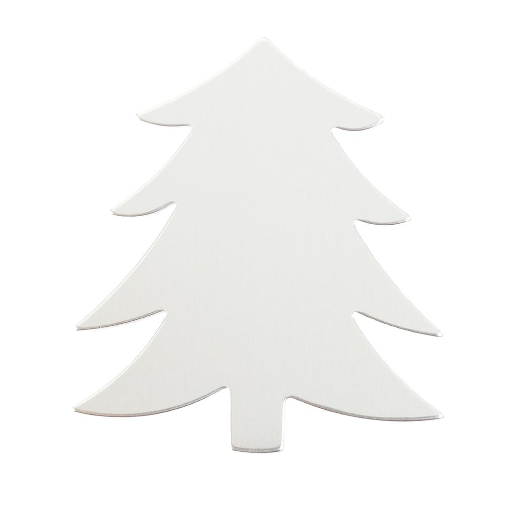 "Metal Stamping Blanks Aluminum Tree Blank, 58.4mm (2.3"") x 51.4mm (2.04""), 18g"