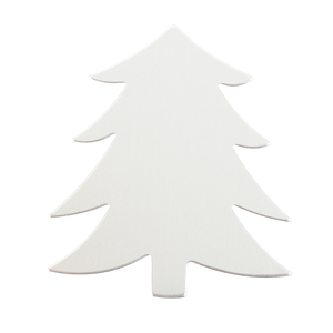 "Metal Stamping Blanks Aluminum Tree Ornament Blank, 58.4mm (2.3"") x 51.4mm (2.04""), 18g"