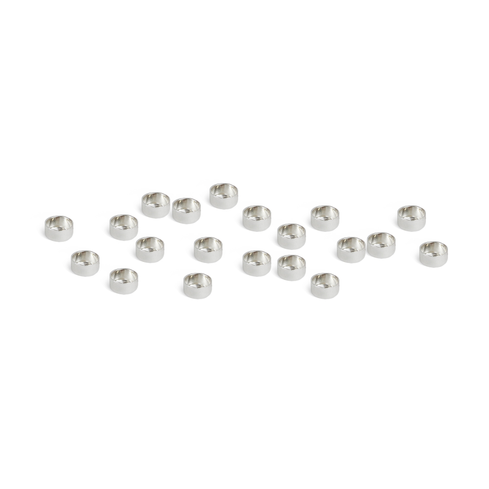 "Rivets and Findings  Fine Silver 3mm (.12"") Bezel Cup Settings, Pack of 20"