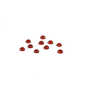Beads & Swarovski Crystals Carnelian Round Cabochons, 4mm, Pack of 10