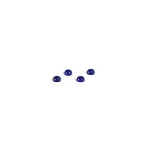Crystals & Beads Lapis Lazuli Round Cabochons, 4mm, Pack of 4
