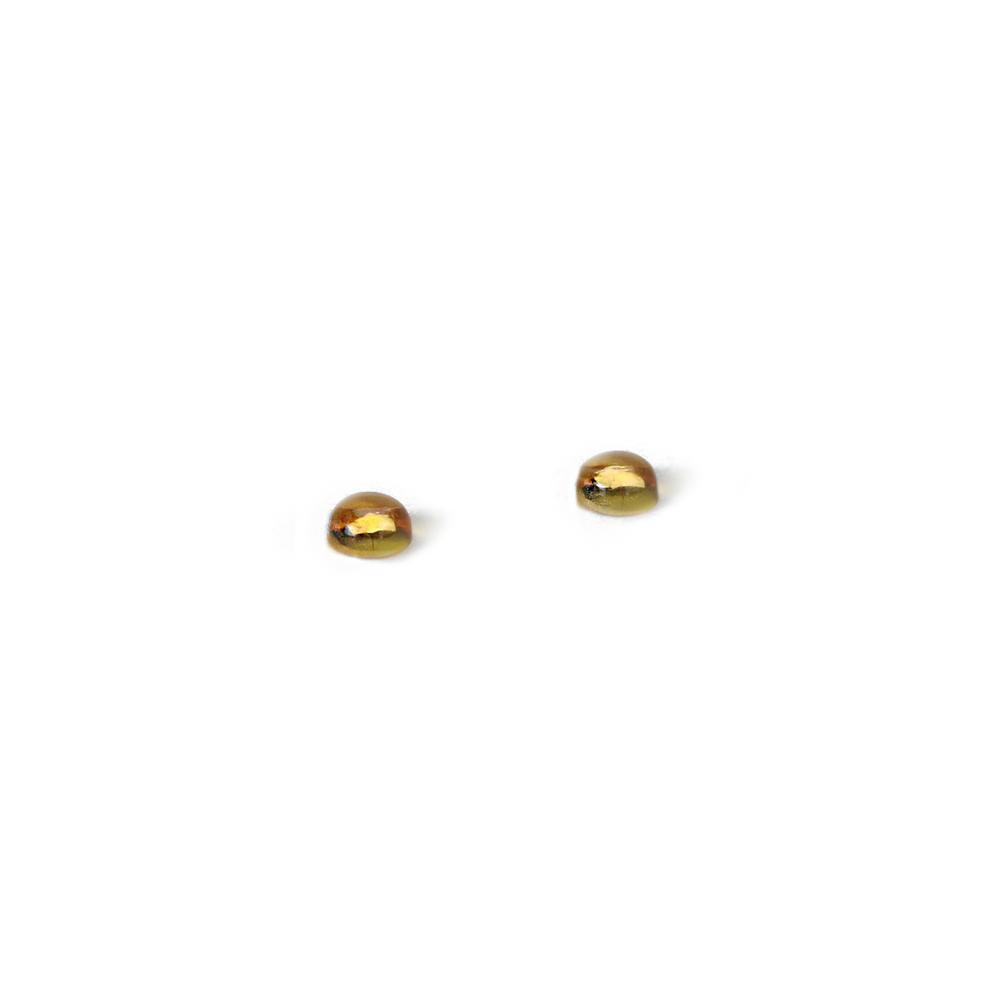 Beads & Swarovski Crystals Citrine Round Cabochons, 4mm, Pack of 2