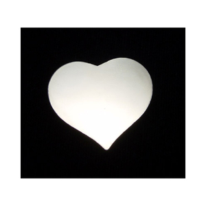 "Metal Stamping Blanks Sterling Silver Puffy Heart, 19mm (.75"") x 17.5mm (.69""), 20g"