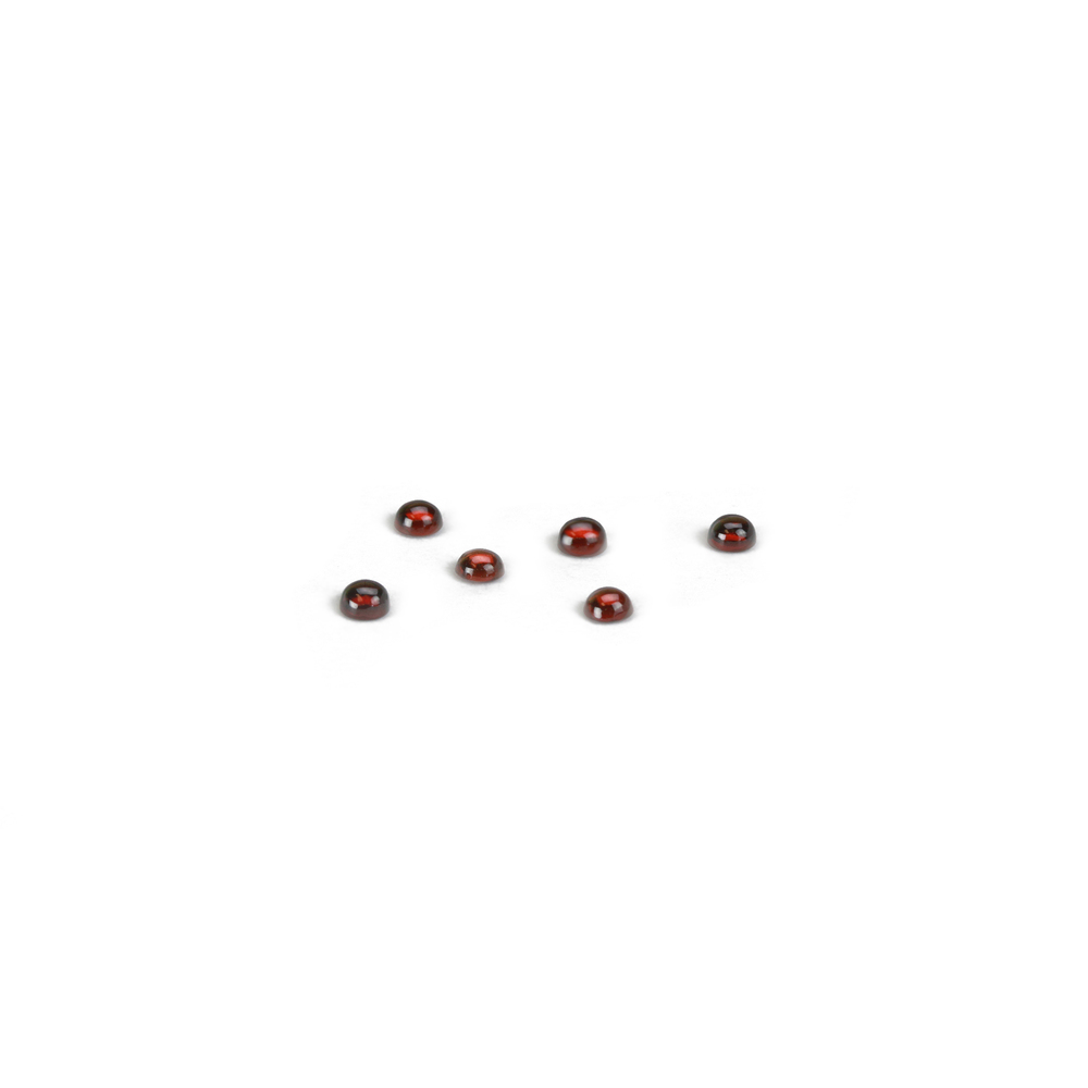Beads & Swarovski Crystals Garnet Round Cabochons, 3mm, Pack of 6