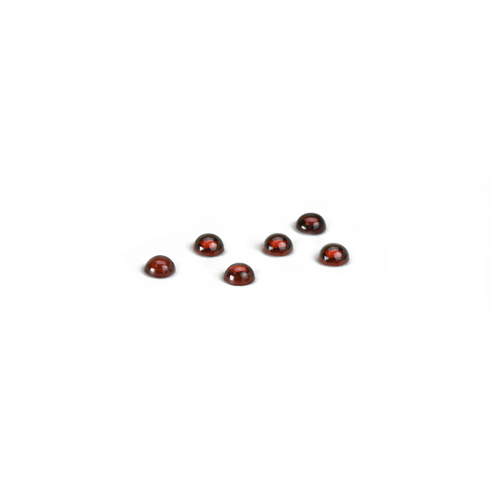 Beads & Swarovski Crystals Garnet Round Cabochons, 4mm, Pack of 6