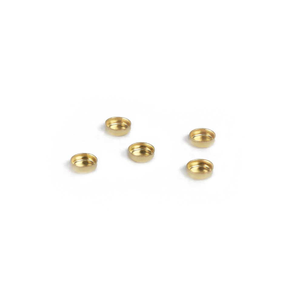 "Rivets and Findings  Gold Filled 4mm (.16"") Bezel Cup Settings, Pack of 5"