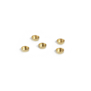 "Rivets,  Findings & Stringing Gold Filled 4mm (.16"") Bezel Cup Settings, Pack of 5"