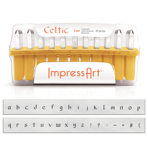 Metal Stamping Tools ImpressArt Lowercase Celtic Letter Stamp Set 3mm