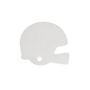 "Metal Stamping Blanks Aluminum Football Helmet Blank, 22mm (.87"") x 22mm (.87""), 18g, Pack of 5"