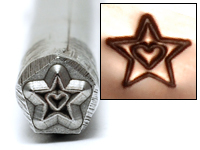 Metal Stamping Tools Star with Heart Design Stamp