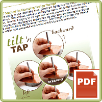 PRODUCT TIP PDF: Tilt n' Tap Method -  Using Design Stamps