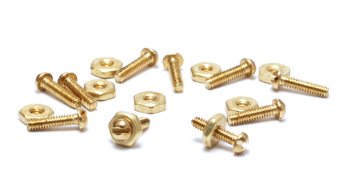 Clasps, Findings & Stringing Mini Screws and Nuts, 10 sets