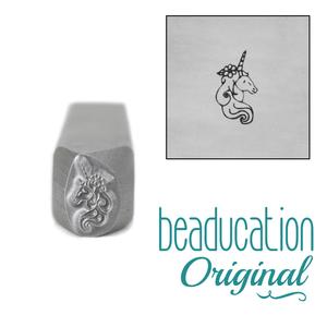 Metal Stamping Tools Unicorn Head Metal Design Stamp, 8mm - Beaducation Original