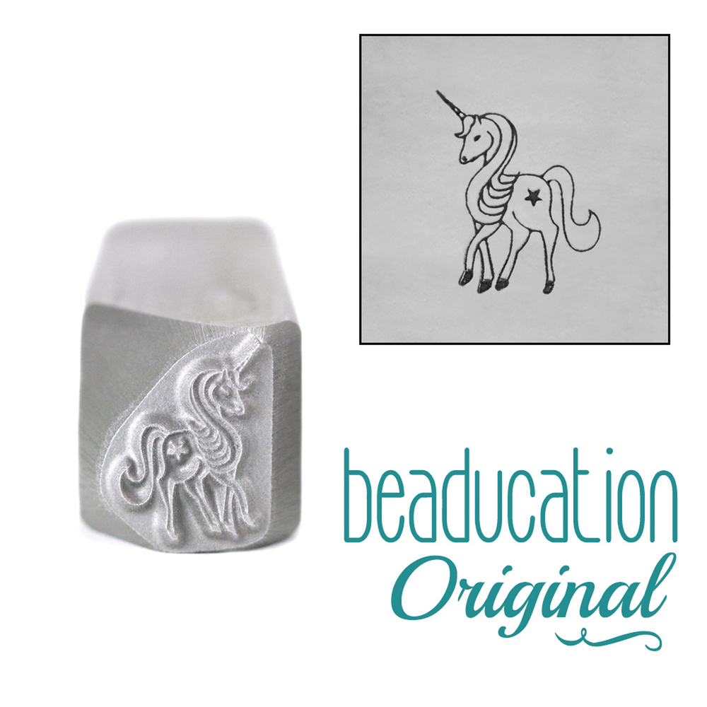 Metal Stamping Tools Unicorn Metal Design Stamp, 11mm - Beaducation Original
