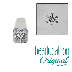 Metal Stamping Tools Modern Snowflake Metal Design Stamp, 5mm - Beaducation Original 5mm