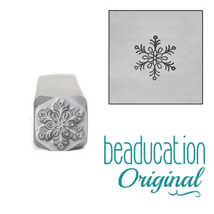 Metal Stamping Tools Traditional Snowflake Metal Design Stamp - Beaducation Original 8mm