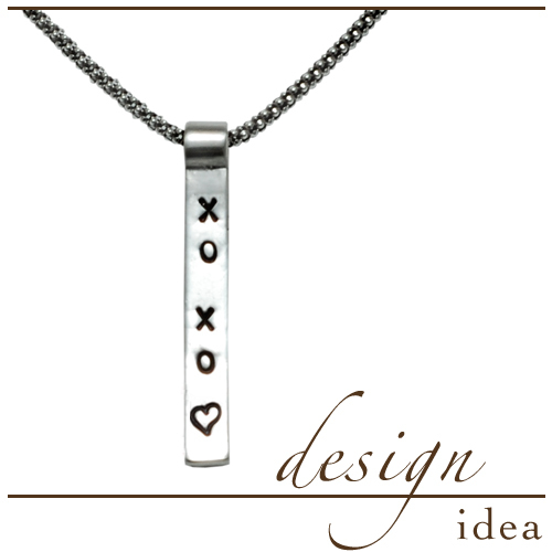 Design Idea: XOXO Stamped Pendant