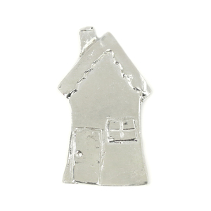 "Metal Stamping Blanks Pewter House Ornament Stamping Blank, 62mm (2.4""), 12g"