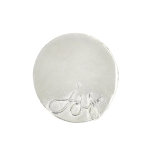 "Metal Stamping Blanks Pewter 'Joy' Ornament Stamping Blank, 47mm (1.8""), 18g"