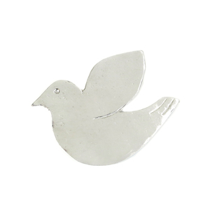 "Metal Stamping Blanks Pewter Dove Ornament Stamping Blank, 51.5mm (2""), 16g"