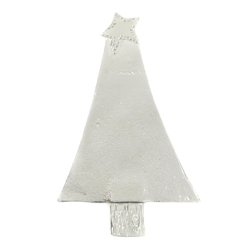 "Metal Stamping Blanks Pewter Triangle Christmas Tree Ornament Stamping Blank, 72.2mm (2.84""), 16g"