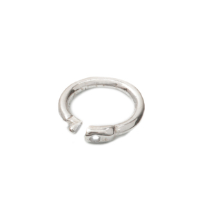 Jump Rings Sterling Silver Locking Ring, 4mm Pk of 10