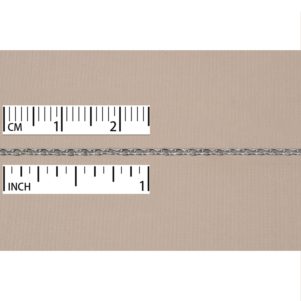 Chain & Clasps Stainless Steel Cable Chain 1mm, by the Inch