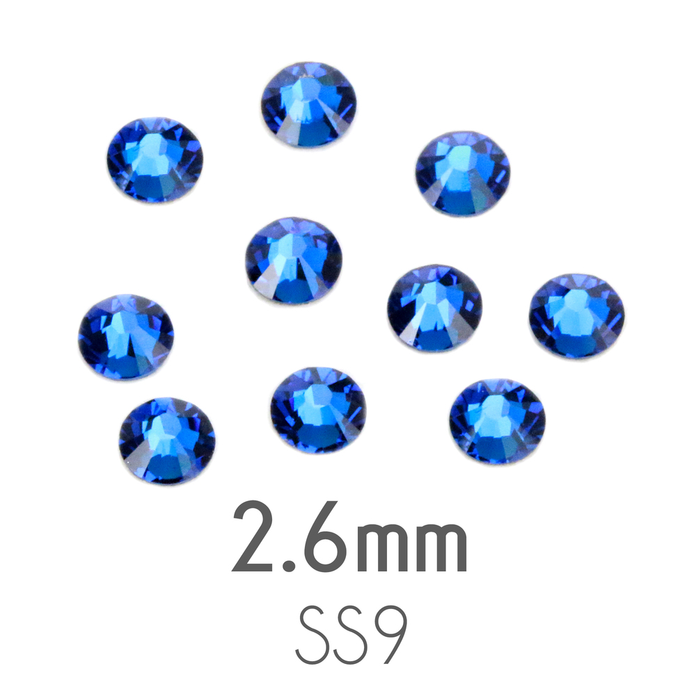 Beads & Swarovski Crystals 2.6mm Swarovski Flat Back Crystals, Capri Blue (20pk)