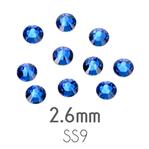 Beads & Swarovski Crystals 2.6mm Swarovski Flat Back Crystals, Capri Blue, Pack of 20
