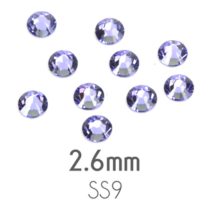 Beads & Swarovski Crystals 2.6mm Swarovski Flat Back Crystals, Tanzanite, Pack of 20
