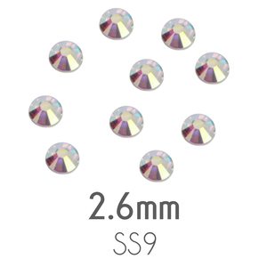 Beads & Swarovski Crystals 2.6mm Swarovski Flat Back Crystals, Crystal AB, Pack of 20