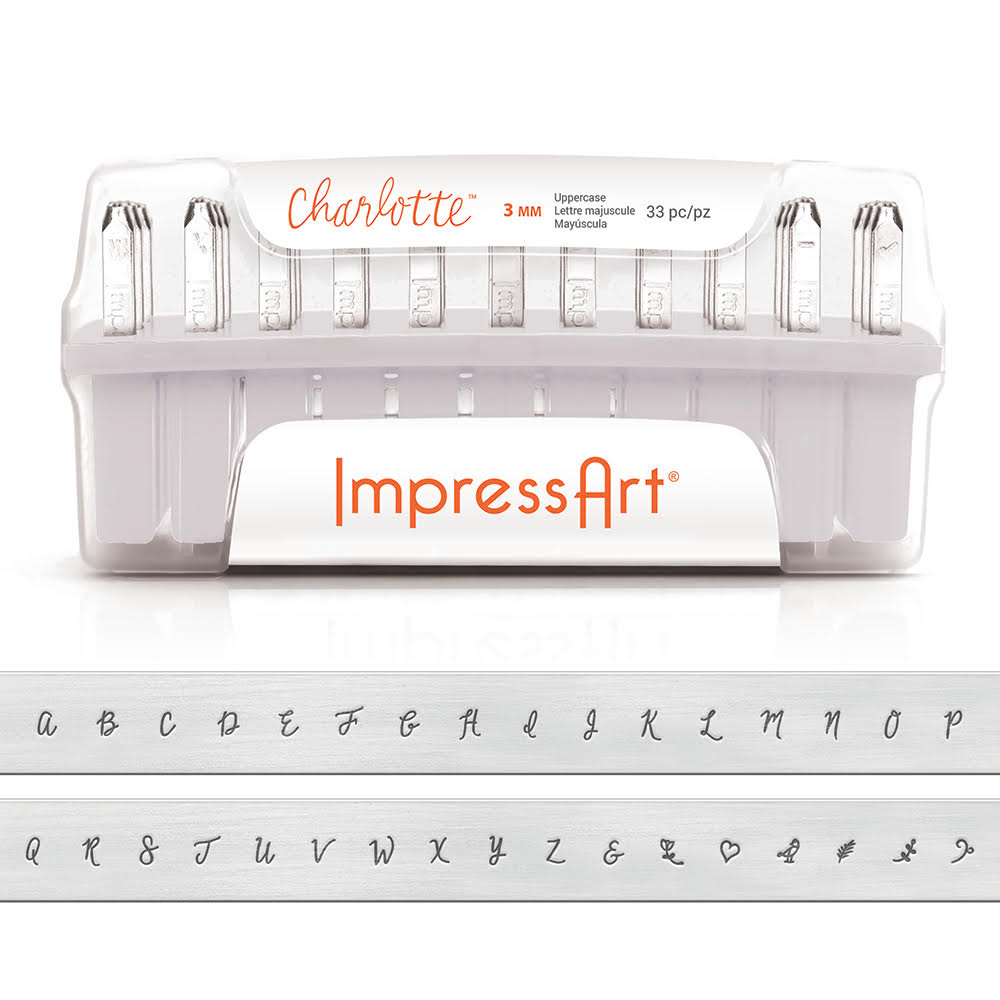 ImpressArt Uppercase Charlotte Letter Stamp Set 3mm