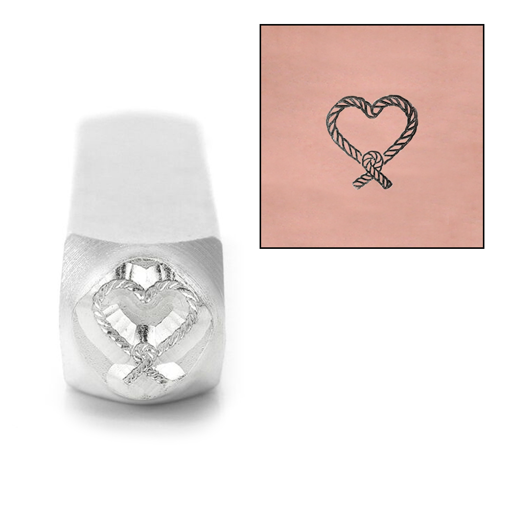 Metal Stamping Tools ImpressArt Knotted Heart Metal Design Stamp, 9.5mm