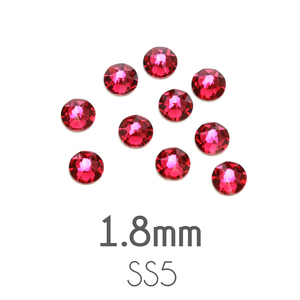 Beads & Swarovski Crystals 1.8mm Swarovski Flat Back Crystals, Ruby / Dark Pink, Pack of 20