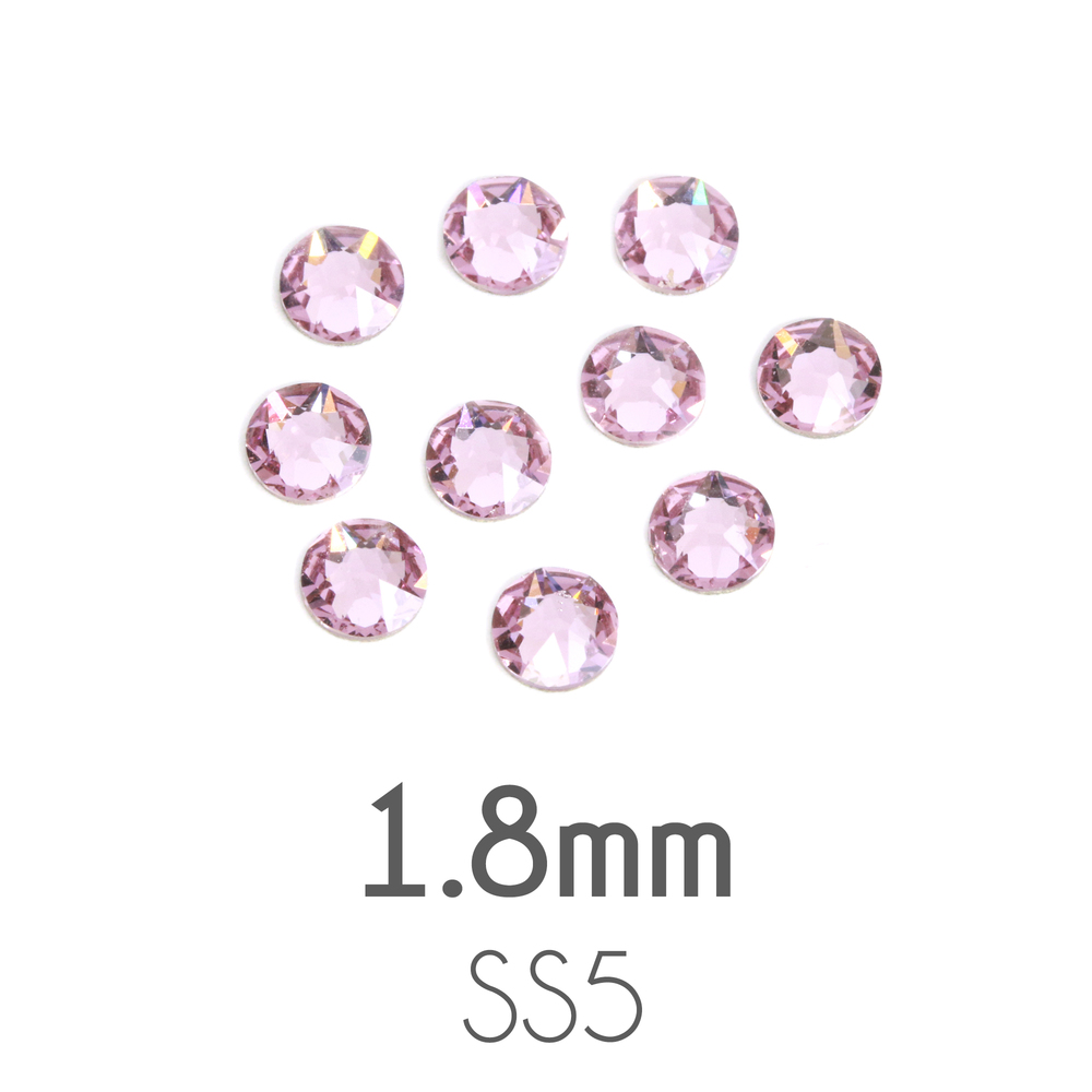 Beads & Swarovski Crystals 1.8mm Swarovski Flat Back Crystals, Light Amethyst (20pk)