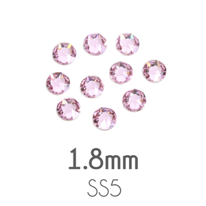 Beads & Swarovski Crystals 1.8mm Swarovski Flat Back Crystals, Light Amethyst, Pack of 20