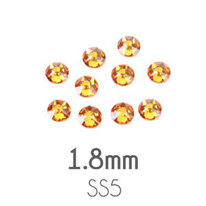 Beads & Swarovski Crystals 1.8mm Swarovski Flat Back Crystals, Topaz, Pack of 20