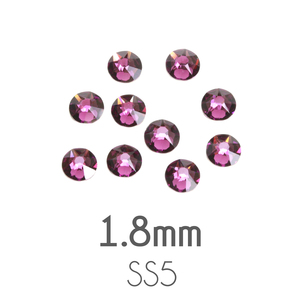 Beads & Swarovski Crystals 1.8mm Swarovski Flat Back Crystals, Amethyst, Pack of 20